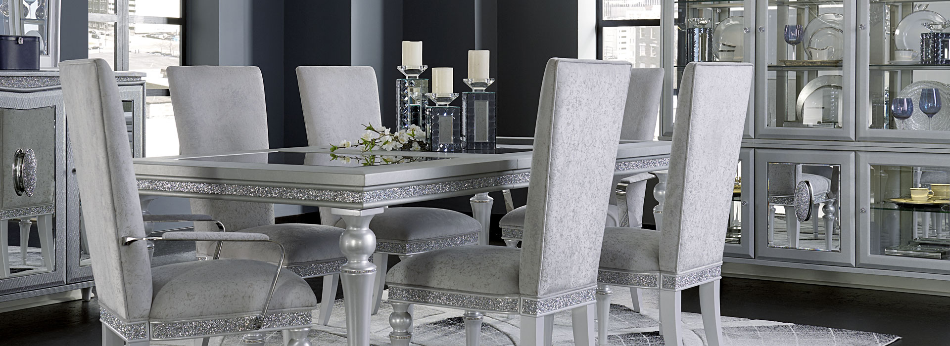 Melrose Plaza By Michael Amini And Jane Seymour, A Design Collaboration Is  The Essence Of Glamour And Timeless Elegance. Stunning Crystal Vinyl  Accents And ...